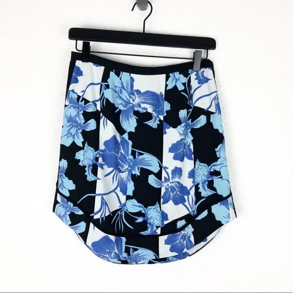 Minkpink Mini Skirt Blue Black Floral S